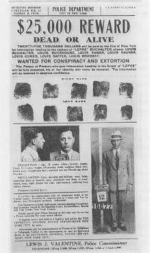 "Wanted poster for Louis ""Lepke"" Buchalter, leader of Murder Inc."" (Courtesy, National Archives)"