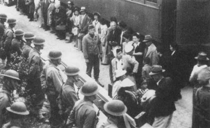 President Franklin Roosevelt authorized the relocation of people of Japanese ancestry after the attack on Pearl Harbor (Courtesy, National Archives)