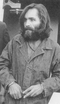 Charles Manson, convicted of the murder of Sharon Tate and six others. (Archive Photos)
