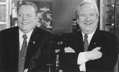 Larry Flynt and Rev. Jerry Falwell. (Archive Photos)