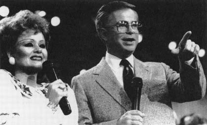 Televangelists, Jim and Tammy Bakker. (AP/Wide World Photos)